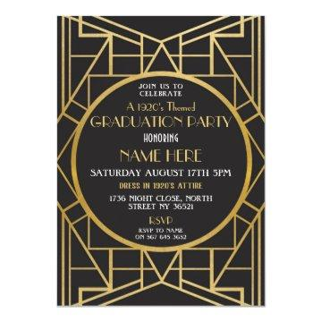 1920's Art Deco Graduation Party Gatsby