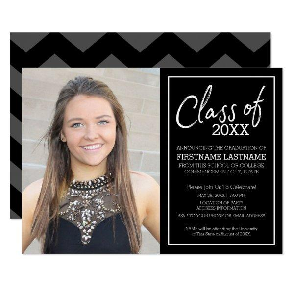 2017 Grad Trendy Graduation Photo Announcement