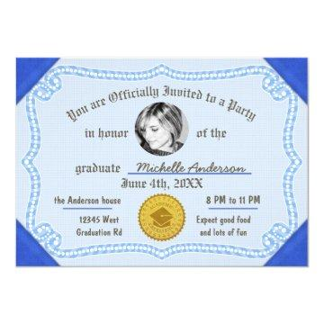 2018 Graduation Photo Diploma Degree Certificate Card