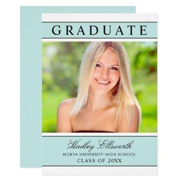 2019 Graduate | Aqua Blue Graduation Party Invitation