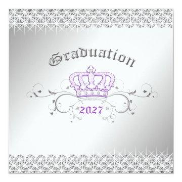 311-Queen for a Day | Graduation Party Lilac Card