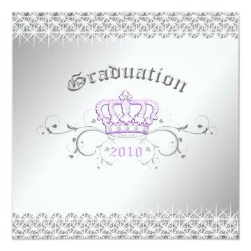 311-Queen for a Day | Graduation Party Lilac Invitation