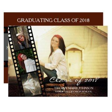 4 PHOTO Filmstrip Graduating Class of 2018 Card
