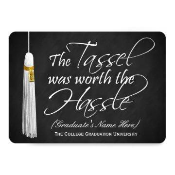 5x7 Tassel Was Worth the Hassle College Graduation Card