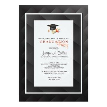 Abstact Black and Gray Invitation