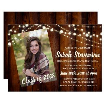 ADD PHOTO - Graduation Announcement Invitation