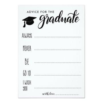Advice For The Graduate | Minimalist Invitation