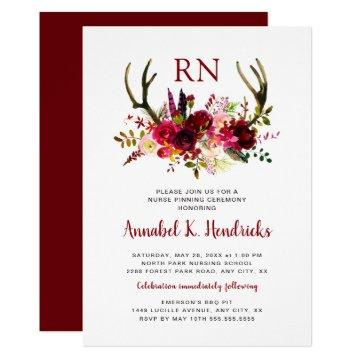 Antlers RN pinning ceremony / celebration party Invitation