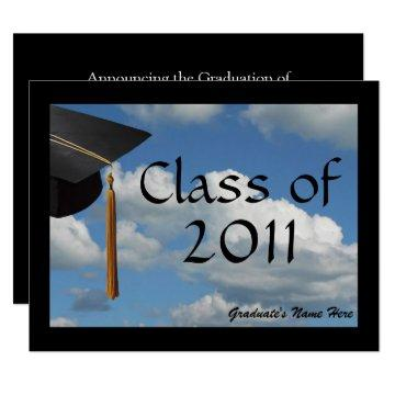 Any Year~  Blue Sky Graduation Announcement