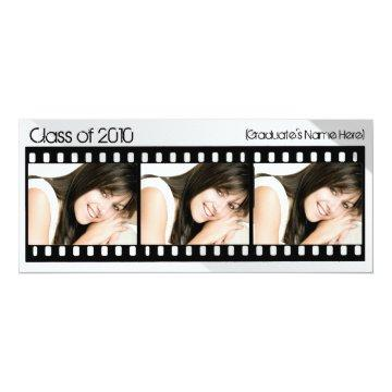 Any Year~ Custom Three Photo Filmstrip Graduation Card