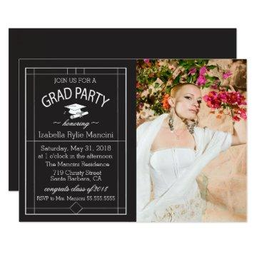 Art Deco Graduation Invite