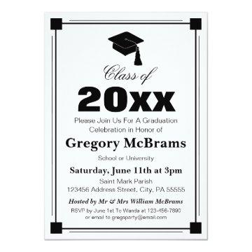Art Deco Graduation Party Card