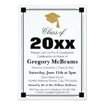 Art Deco Style White Graduation Party