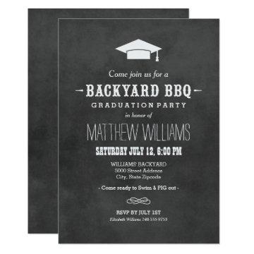 Backyard BBQ  | Black Chalkboard Design