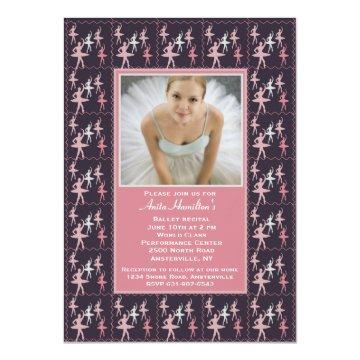 Ballerina Photo Invitation