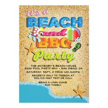 Beach and BBQ Party