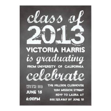 Big and bold gray chalkboard typography modern card