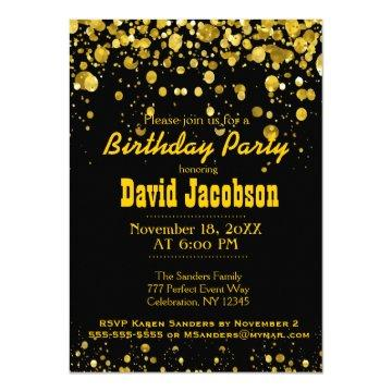 Birthday Party | Black and Gold Card