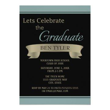 Black and Teal / Blue Graduation Party