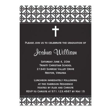 Black Graduation Announcement / Invite