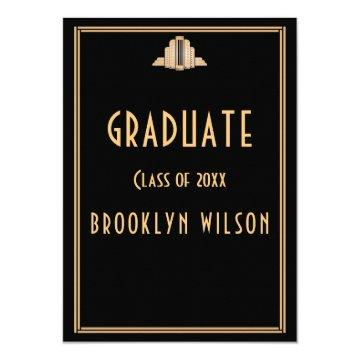 Black Graduation Party  Art Deco