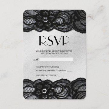 Black Lace and Satin RSVP