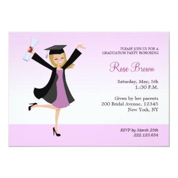 Blonde Graduation Party Invitation