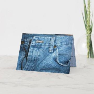 Blue Jean Your Invited Card