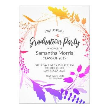 Bohemian Flower Wreath Graduation Party