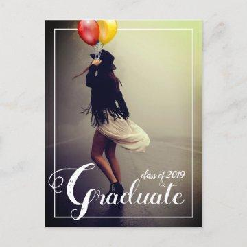 Bohemian Hipster Woman Graduation Party  Postcard