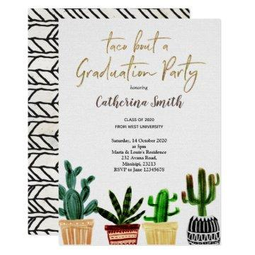 Boho Taco bout a Graduation Party Mexican Invitation