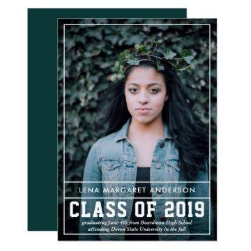 Bold Photo Graduation Announcement Party Invite