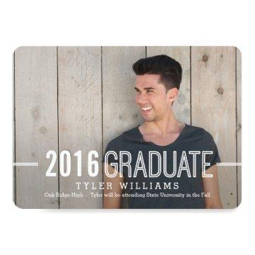 Bold Timeless Graduation Announcement