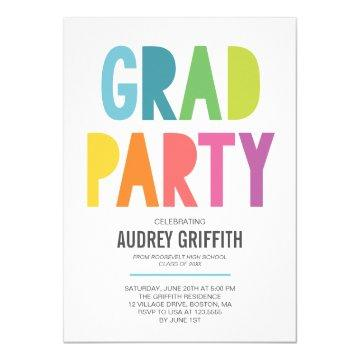 Bright Colorful Grad Party