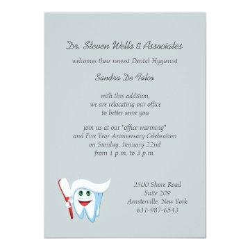 Brush and Tooth Dental Announcement/ Card