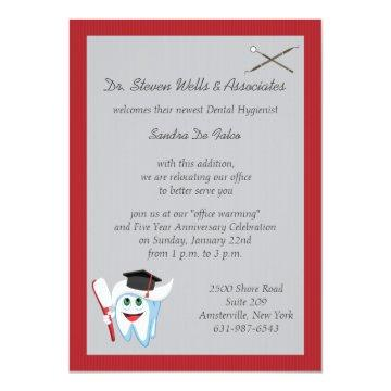 Brush and Tooth Dental Graduate Card