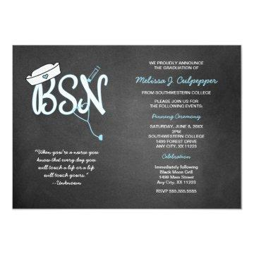 BSN graduation nurse pinning ceremony invites