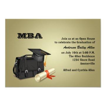 Business Graduate Graduation Invitation