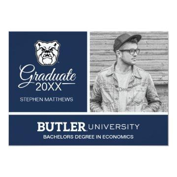 Butler University Bulldog Logo | Graduation Invitation