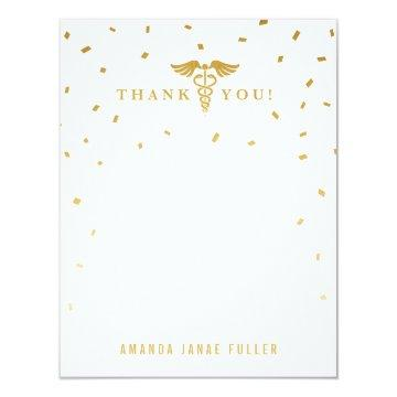 Caduceus Graduation Party Thank You Cards
