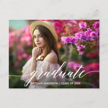 Calligraphy Script Graduation Party Invitation