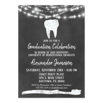 Chalkboard Dental Graduation Party