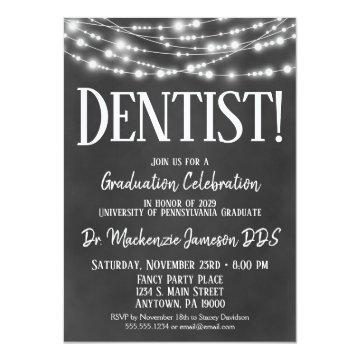 Chalkboard Dentist Graduation Party