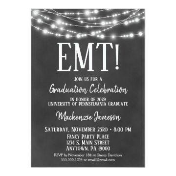 Chalkboard EMT Graduation Party
