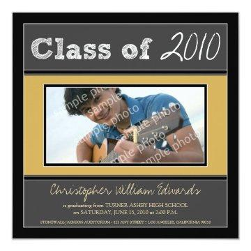 Chalkboard Sketch Graduation Announcement (black)