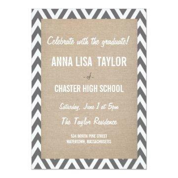 Chevron Class of 2015 Graduation 2015 Invite