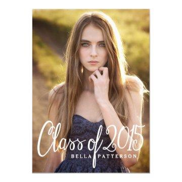 Chic Class of 2015 Photo Graduation Party Card