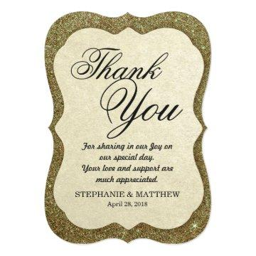 Chic Elegant Sparkly Faux Gold Glitter Card
