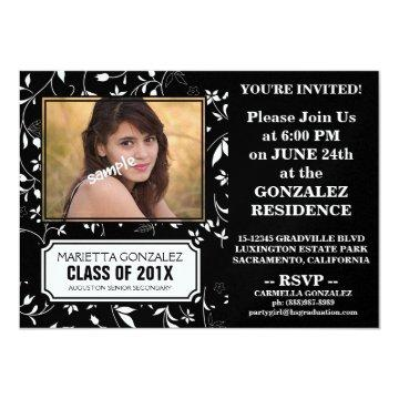 Chic Young Lady Photo Graduation Party