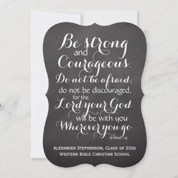 Christian Bible Scripture Verse Custom Graduation Announcement